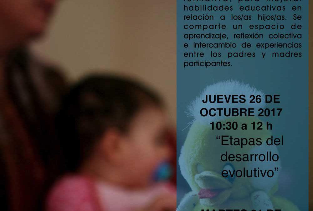 Charlas sobre desarrollo y comunicación con los hijos, destinadas a madres y padres