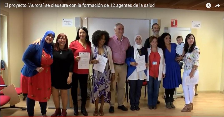 El proyecto «Aurora» se clausura con la formación de 12 agentes de la salud