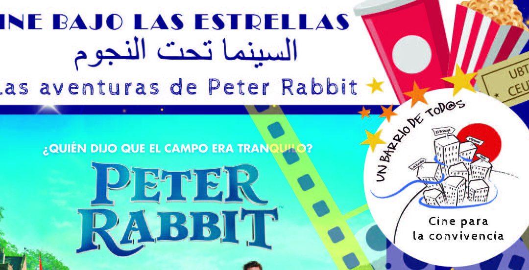 Un barrio de todos proyecta Peter Rabbit en la barriada Miramar de Ceuta dentro de su Cine bajo las estrellas