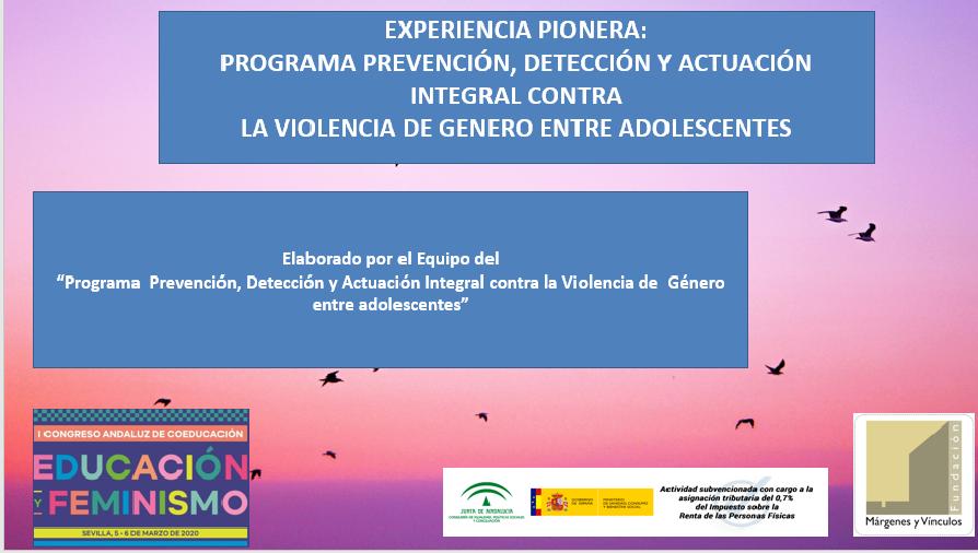 Iniciamos programa de prevención, detección y actuación integral contra la violencia de género entre adolescentes