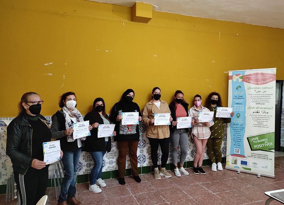 Mujeres de la zona sur de Algeciras se forman en nuevas técnicas y habilidades para encontrar empleo en el sector de la limpieza