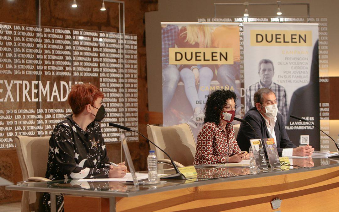 Comienza en Extremadura Duelen, campaña de prevención de la violencia ejercida por jóvenes en sus familias y entre iguales