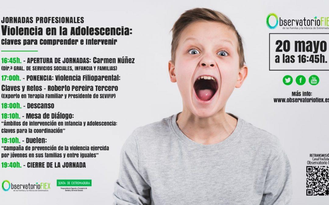 Márgenes y Vínculos participará en la jornada sobre violencia en la adolescencia que organiza Observatorio de la Infancia de Extremadura