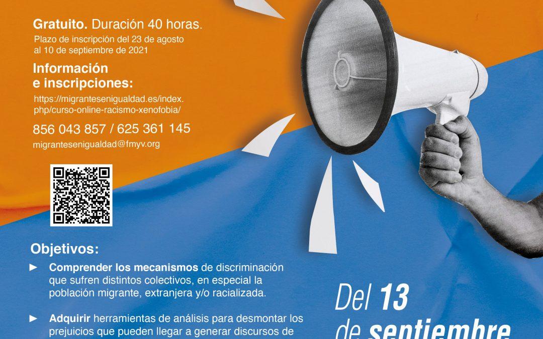Fundación Márgenes y Vínculos organiza un curso online para prevenir el racismo y la xenofobia.